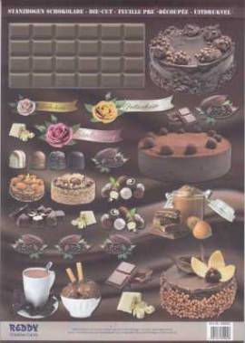 Stanzbogen - Reddy -84902- Karten-Accessoires-Schokolade - Bild vergrößern