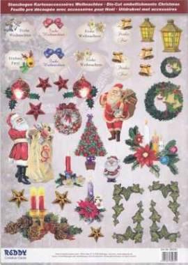 Stanzbogen - Reddy -85032- Karten-Accessoires-Weihnachtmotive und Schildchen - Bild vergrößern