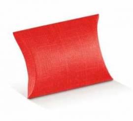 5 Kartonagen-Geschenkverpackung-Fausto-Busta-Kissen-rot-Leinenstruktur - Bild vergrößern