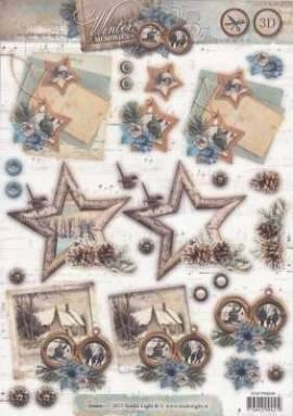 3D Stanzbogen -EASY488 - Winter Memories - Post-Landschaft-Bilder - Bild vergrößern