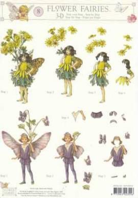 3D Etappen-Bogen-Flower Fairies-FF 008 - Bild vergrößern