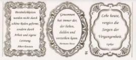 Gravur-Sticker-Bogen-Texte-Verse von Dichtern -transparent-gold-GR 016trg - Bild vergrößern