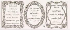 Gravur-Sticker-Bogen-GR 0020trg-Texte-Verse von Dichtern -transparent-gold - Bild vergrößern