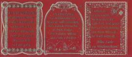 Gravur-Sticker-Bogen-Texte-Weihnachten -rot-gold-GR 034rg - Bild vergrößern