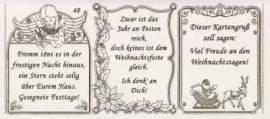 Gravur-Sticker-Bogen-Texte-Weihnachten -transparent-gold-GR 048trg - Bild vergrößern