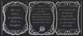 Gravur-Sticker-Bogen-Texte-Trauer-Kondolenz-schwarz / silber-GR 052schws - Bild vergrößern