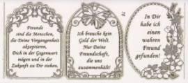 Gravur-Sticker-Bogen-Texte-Geburtstag / Freundschaft-transparent-gold-GR 078trg - Bild vergrößern