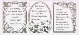 Gravur-Sticker-Bogen-Texte-Herzliche Genesungswünsche-transparent-gold-GR 3949trg - Bild vergrößern