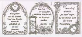 Gravur-Sticker-Bogen-Texte-Zeitsprüche-transparent-gold-GR 3952trg - Bild vergrößern