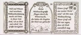 Gravur-Sticker-Bogen-Texte-Weihnachten -transparent-gold-GR 038trg - Bild vergrößern