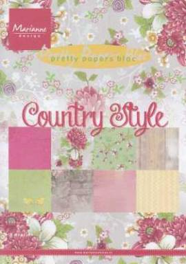 Motiv-Kartenpapier/Karton-Pretty Papers-Marianne Design-PK 9130-Country Style-ca.180g-8Bl-A5 - Bild vergrößern