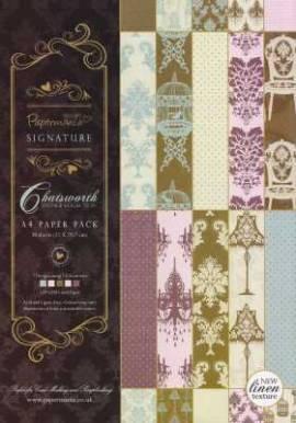 Motiv-Kartenpapier-Leinenstruktur-Papermania-PM100- Chatsworth Luxury-ca.120g-30Bl-A4 - Bild vergrößern