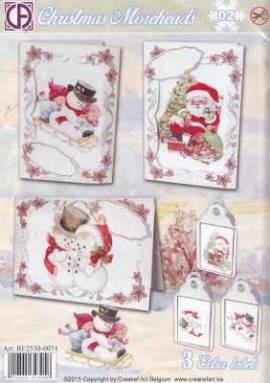 Creatief Art-Kartenset - Christmas Moreheads 02 - Bild vergrößern