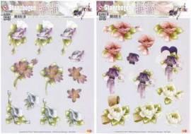 2 x 3D Stanzbogen - Precious Marieke - Blumen - SB 10005-6 - Bild vergrößern