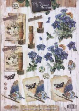 3D Etappen-Bogen-STSL 1321-My Botanic Garden - Amaryllis blau  - Bild vergrößern