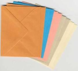 10 Brief-Umschläge/Kuverts-U-006-5 Farben-für Minikarten - Bild vergrößern