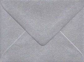 10 Brief-Umschläge/Kuverts-U-017-Minikarten-satieniert-silber - Bild vergrößern