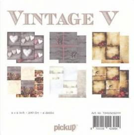 Motiv-Kartenpapier/Karton-Vintage 5-ca.200g-6 Motive-ca.15 x 15cm - Bild vergrößern
