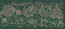 Zier-Sticker-Bogen-Weihnachtsmotive-grün/gold-W 0190grg - Bild vergrößern