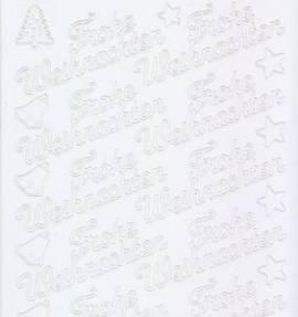 Zier-Sticker-Bogen-Frohe Weihnachten-weiß-W-450w - Bild vergrößern