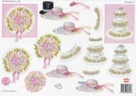 3D-Etappen-Bogen- Hochzeit - Brautstrauß - Hüte  - Torte - Wekabo-804 - Bild vergrößern