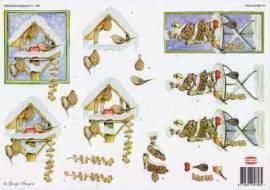 3D Bogen-Etappenbogen-Vogelhaus im Winter- Wekabo 756 - Bild vergrößern