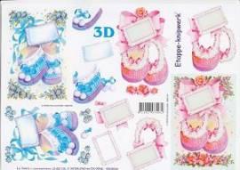 3D Etappen-Bogen Baby-Schühchen-4169176 - Bild vergrößern