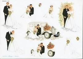 3D Bogen Brautpaare/ Auto-WEBO 481 - Bild vergrößern