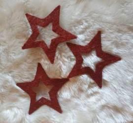 3er Set * Sisal-Sterne * Nr.03 - 15cm * rotbraun * - Bild vergrößern