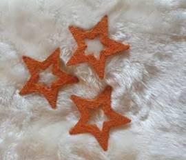 3er Set * Sisal-Sterne * Nr.06 - 15cm * kupfer * - Bild vergrößern