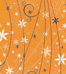 Artoz - Crea Motions- Designkarton-043-Blumenregen - orange-ca.200g/m² - Bild vergrößern