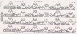 Zier-Sticker-Bogen -Ränder / Bordüren - Eulen-gold-0692g - Bild vergrößern