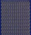 Micro-Glittersticker-Blätter / Ränder/Bordüren-blau/gold-1241gblg