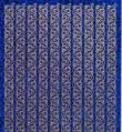 Zier-Sticker-Bogen-Ränder holo-blau-1839hobl