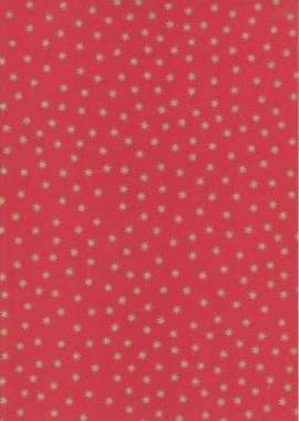 Vario Karton-Motivkarton-5487-20-rot-goldene Sterne-300g/qm - Bild vergrößern