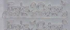 Zier-Sticker-Bogen-Frohe Ostern als Borde-silber-3369s - Bild vergrößern