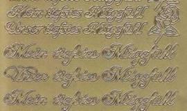 Zier-Sticker-Bogen-Meine / Unsere tiefstes Mitgefühl-silber-3516s - Bild vergrößern