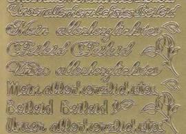 Zier-Sticker-Bogen-Meine / Unsere allerherzlichtes Beileid-gold-3517g - Bild vergrößern