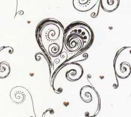 Artoz - Crea Motions- Designkarton-168-selbstklebend-Dancing Heart-tanzende Herzen-weiß / gold - Bild vergrößern