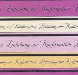 Artoz - Crea Motions- Designkarton-205-selbstklebend-Einladung zur Konfirmation-holunder / silber - Bild vergrößern