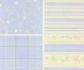 Motiv-Kartenpapier/Karton-LeCrea Design 79-Home and Family-Blau-ca.220g-4Bl-A5 - Bild vergrößern