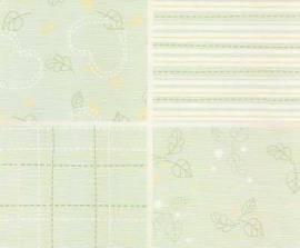 Motiv-Kartenpapier/Karton-LeCrea Design 86-Home and Family-Grün-ca.220g-4Bl-A5 - Bild vergrößern