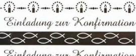 Ursus-Designkarton ,,Bordüren'' - Einladung zur Konfirmation - weiß / gold- 608246-01 - Bild vergrößern
