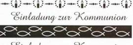 Ursus-Designkarton ,,Bordüren'' - Einladung zur Kommunion - weiß / gold- 608246-02 - Bild vergrößern