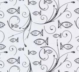 Ursus-Designkarton-59934601- ,,Eleganza''-Kommunion / Konfirmation / Taufe-Charity-Fische silber- 01 - Bild vergrößern