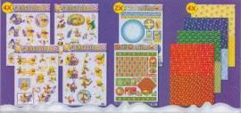 3D Stanzbogen -EASY 01-Set -Winnie Pooh-4 Stanz-4 Hintergrund-2 Spezialbogen - Bild vergrößern