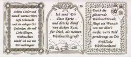 Gravur-Sticker-Bogen-Texte-Weihnachten -rot-gold-GR 036rg - Bild vergrößern