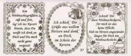Gravur-Sticker-Bogen-Texte-Weihnachten -rot-gold-GR 037rg - Bild vergrößern