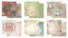 Motiv-Kartenpapier/Karton-Vintage 2-ca.200g-6 Motive-ca.15 x 15cm - Bild vergrößern