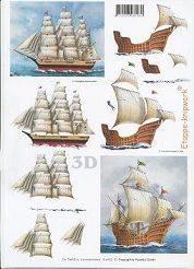 3D Etappen-Bogen-Drei-Master / Historisches Segelschiff-416923